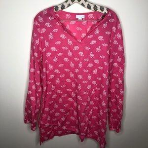 J. JILL// Pink Patterned Tunic Top